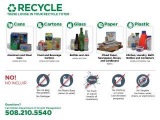 Recycle these loose in toter